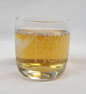 "Game of Thrones Inspired ""Crows Before Hoes"" Whisky Tumbler Glass"